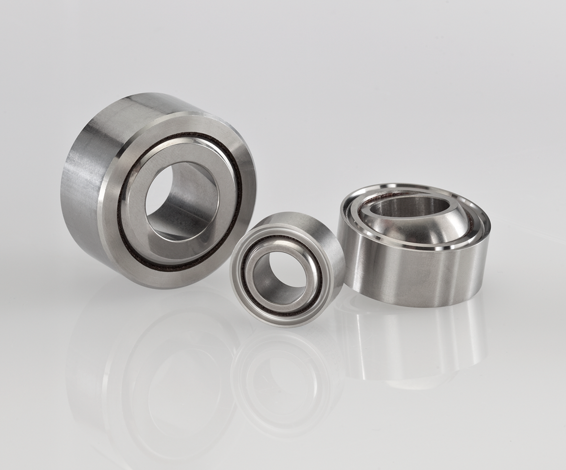 Spherical bearings with NHBB's MK liner system qualified to AS81820 Type 'A'