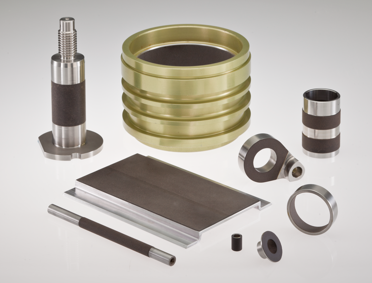 Products lined with NHBB's Oscimax® brand of machineable self-lubricating liner technology.