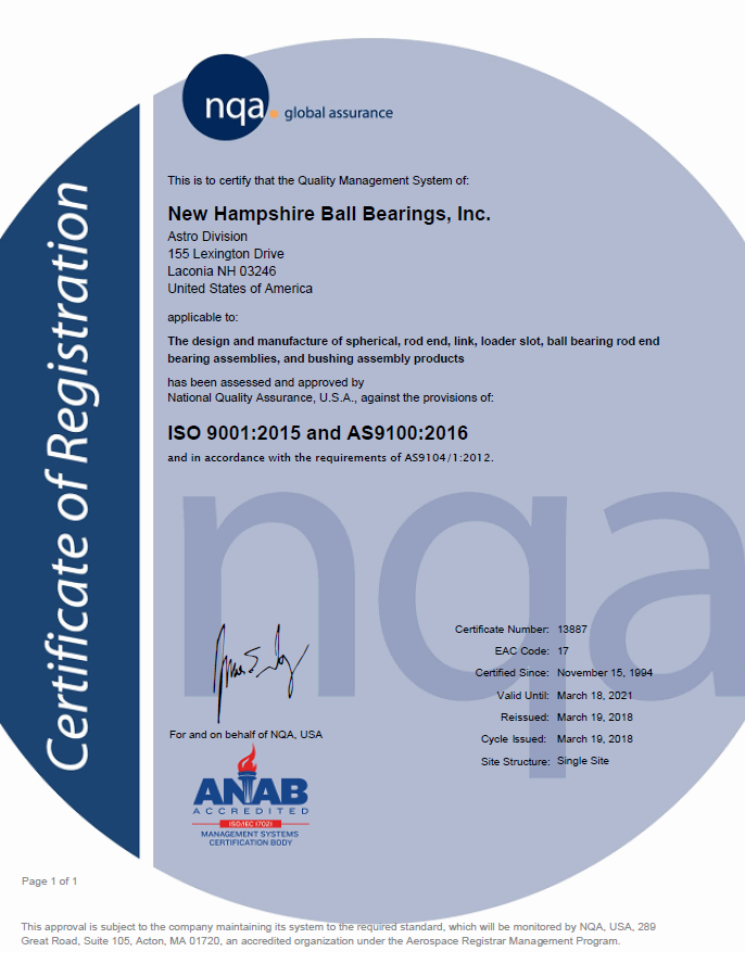 NHBB Astro Division Quality Certification