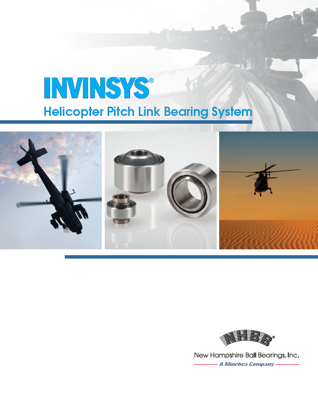 NHBB INVINSYS Pitch Link Bearings System Brochure Cover