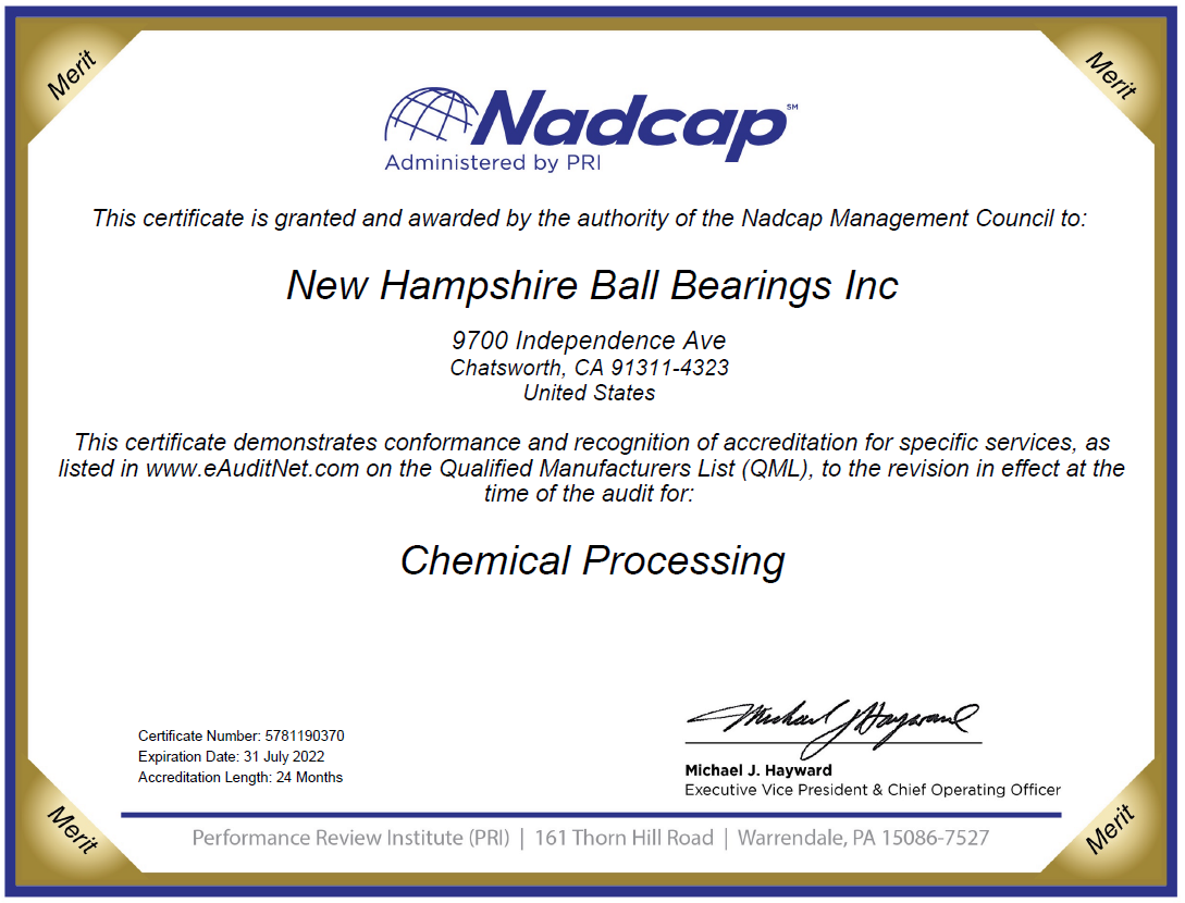 NHBB Precision Nadcap Accreditation Chemical Processing
