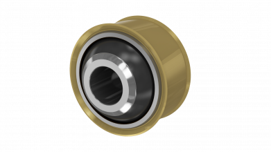 Spherical bearing with INVINSYS self-lubricating liner system