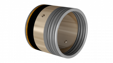 Strut bushing with Oscimax self-lubricating liner technology